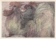 Paul Flora - 13. Ein stolzer Tiroler auf einem Hahn