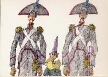 Paul Flora - 14. Pinocchio und die Carabinieri