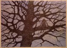 Paul Flora - 32. Monsieur Corbeau im Baum