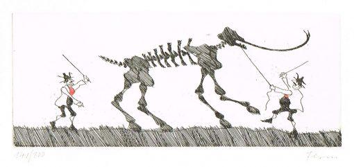 Flora Radierung Das störrische Mammut