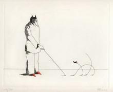 Paul Flora - Die dünne Katze