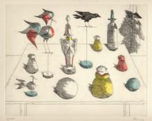 Paul Flora - Ensemble mit Marionette
