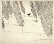 Paul Flora - Literarische Landschaft mit Pegasus