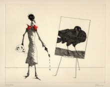 Paul Flora - Monsieur Corbeau, Artiste