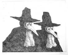 Paul Flora - Venezianische Masken