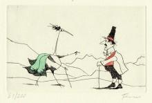 Paul Flora - Der überraschte Älpler