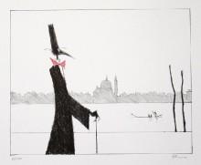 Paul Flora - Monsieur Corbeau, elegant