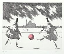 Paul Flora - Ein Ballspiel
