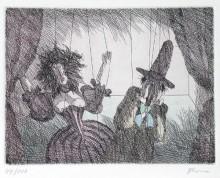 Paul Flora - Marionettenpaar
