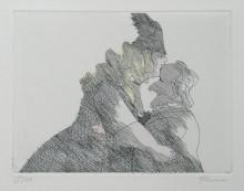 Paul Flora - Wagner, von Muse geküsst