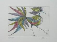 Paul Flora - Schöner Vogel