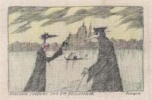 Paul Flora - 68. Monsieur Corbeau und ein Pestdoktor