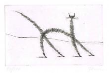 Paul Flora - Dünne Katze