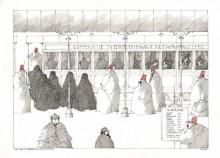 Paul Flora - 85. Ein Harem besteigt den Orientexpress
