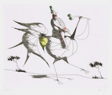 Paul Flora - Der Ritt auf dem Vogel