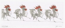 Paul Flora - Hahnenparade