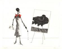 Paul Flora Radieurng Monsieur Corbeau Artiste