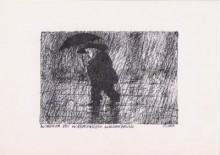 Paul Flora - 05. Wagner bei währendem Wolkenbruch