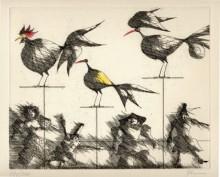 Paul Flora - Puppen und Vögel