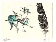 Paul Flora - Vogel und Feder