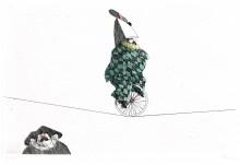 Paul Flora - Akrobatischer Clown