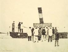 Paul Flora - 109. Am Dampfer