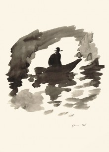 Paul Flora - 121. Boot in der Grotte