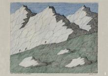 Paul Flora - 118. Die Wanderer im Gebirge