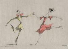 Paul Flora - 115. Ein Tanzvergnügen