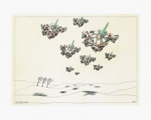 Paul Flora - 53. Neun fliegende Harlekine – handsigniert