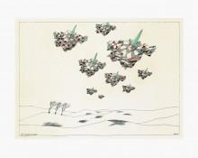 Paul Flora Neun fliegende Harlekine
