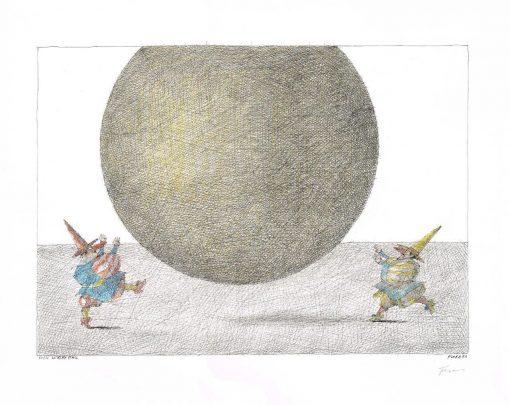 Paul Flora Der gelbe Ball