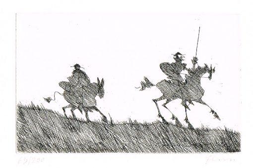Paul Flora Don Quichote und Sancho Pansa