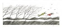Paul Flora - Ein stürmischer Tag