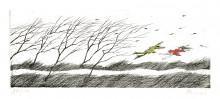 Paul Flora Ein stürmischer Tag