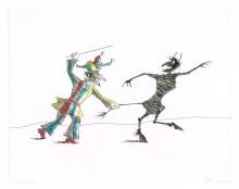 Paul Flora - Kasperl und der Teufel