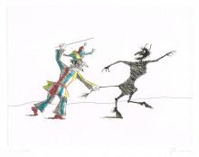 Paul Flora Kasperl und der Teufel