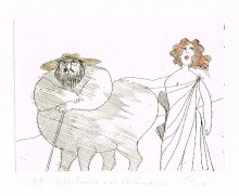 Paul Flora - Kentaur mit Freundin