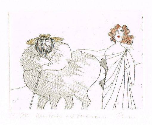 Paul Flora Kentaur mit Freundin