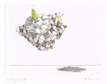 Paul Flora - Schwebender Harlekin