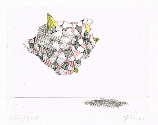 Paul Flora Schwebender Harlekin