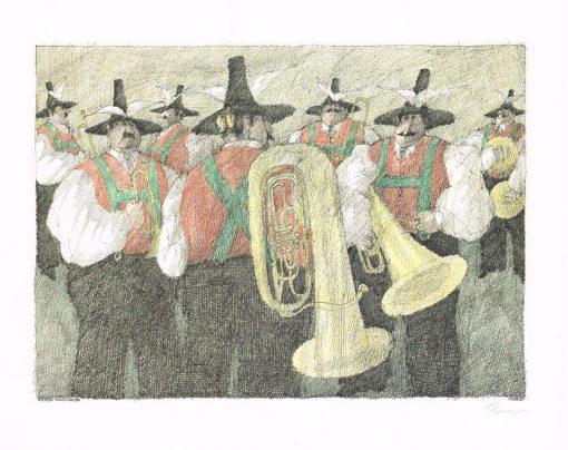 Paul Flora Sieben Musikanten