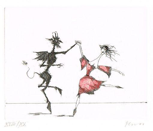 Paul Flora Des Teufels Tanzvergnügen