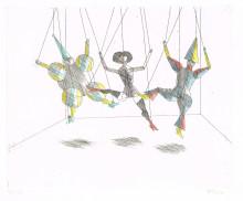Paul Flora - Marionettentrio