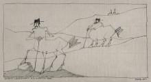 Paul Flora - Antike Landschaft mit Kentauren