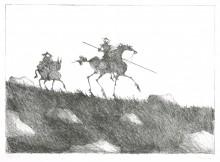 Paul Flora - Don Quijote und Sancho Pansa