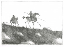 Paul Flora Don Quichote und Sancho Pansa II