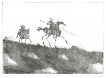 Paul Flora Don Quichote und Sancho Pansa II
