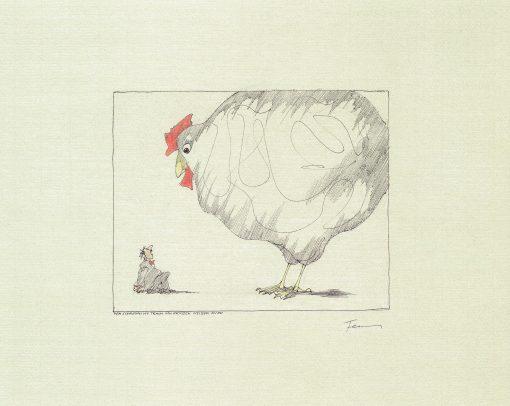 Paul Flora Der schreckliche Traum vom großen weißen Huhn