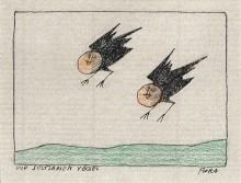 Paul Flora - Die seltsamen Vögel